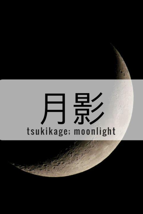 One Kanji a Day月影、tsukikage; moonlight Note: The haikyuu reference tho