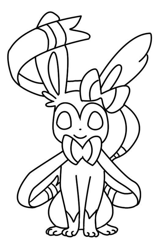 Printable Sylveon Coloring Page Pokemon Coloring Pages Pokemon Coloring Sheets Cartoon Coloring Pages