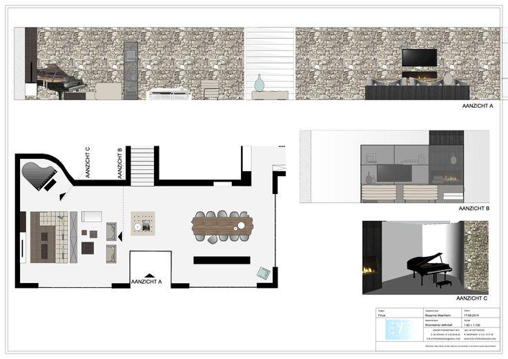 Project finca Ibiza , woonkamer definitief - EYE INTERIOR DESIGN