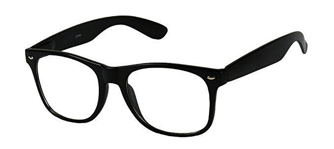 0edbfb5b767 Basik Eyewear – Clear Lens Nerd Geek 80s Style Wayfarer Retro Frame Rx Eye  Glasses Review