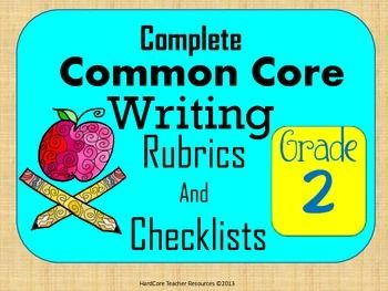 Greetings Writing Teachers!   Included in this item are rubrics and checklists or each common core writing standard, included the language grammar conventions, as well as the language spelling/punctuation/capitalization.   This document includes separate rubrics and checklists for:  •CCSS.ELA-Literacy.W.2.1  •CCSS.ELA-Literacy.W.2.2  •CCSS.ELA-Literacy.W.2.3  •CCSS.ELA-Literacy.W.2.5  •CCSS.ELA-Literacy.W.2.6  •CCSS.ELA-Literacy.W.2.7  •CCSS.ELA-Literacy.W.2.8  •CCSS.ELA-...