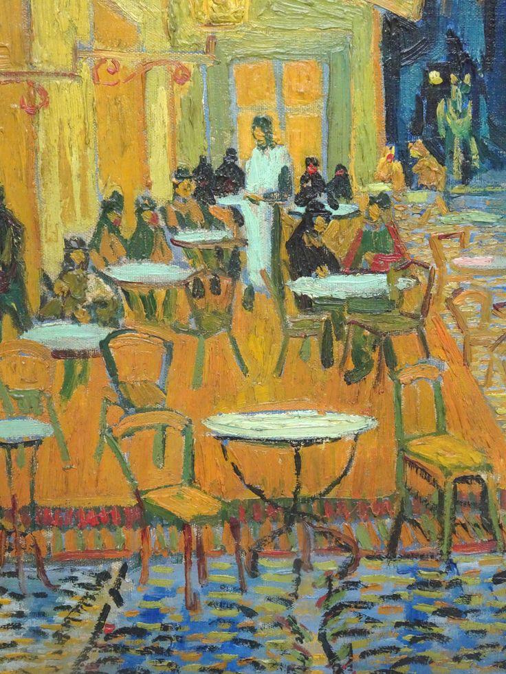 Hoge Veluwe - Museum Kröller-Müller. Vincent van Gogh (1853/1890) - 'Caféterras bij nacht (Place du Forum)' - detail - ca 16/9/1888 - olieverf op doek. Foto: G.J. Koppenaal - 30/8/2017.