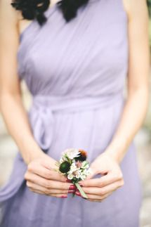 lilac bridesmaid gown