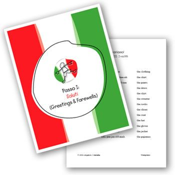 Early Childhood Italian Lesson Plans and Curriculum for Preschoolers and Pre-K…