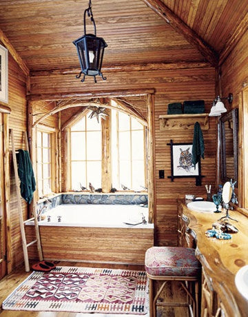 Bathrooms Decor The Plant And Cabin On Pinterest