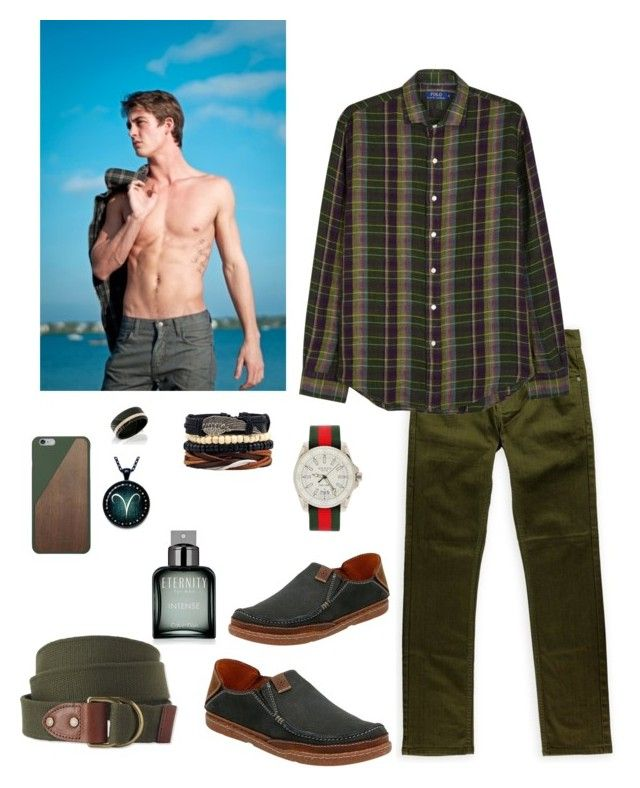 """Untitled #632"" by lianatzelese on Polyvore featuring Ecko Unltd., Polo Ralph Lauren, Clarks, Gucci, L.L.Bean, Native Union, Calvin Klein, men's fashion and menswear"