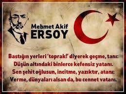 İstiklâl Marşımızın yazarı kendi siyasi görüşü ile uyuşmadığı için Türkiye Cumhuriyetini terkeder ve Mısıra yerleşir.  Mehmet Akif Ersoy