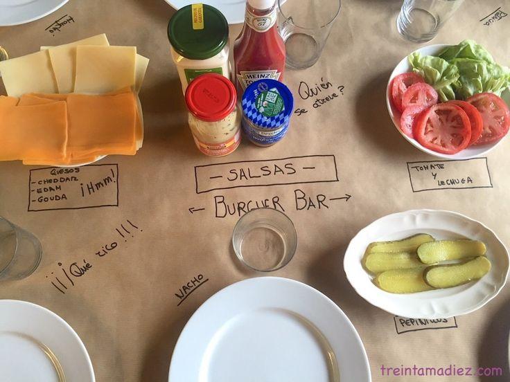 DIY Burguer Bar papel kraft