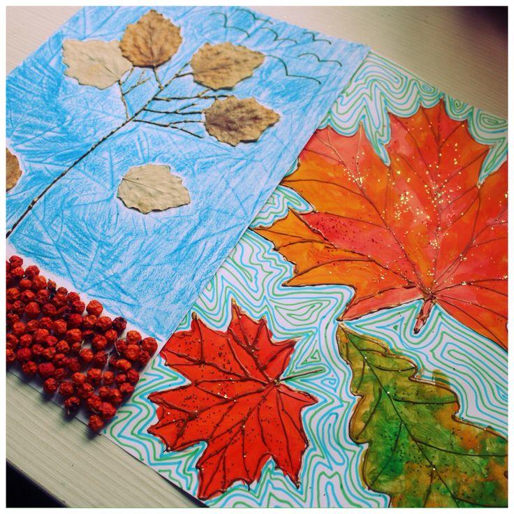 Осеннее дерево и листья