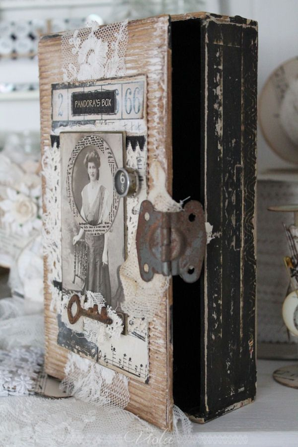 **Cigar Box** Shabby Chic Inspired... ❤°(¯`★´¯)Shabby Chic(¯`★´¯)°❤