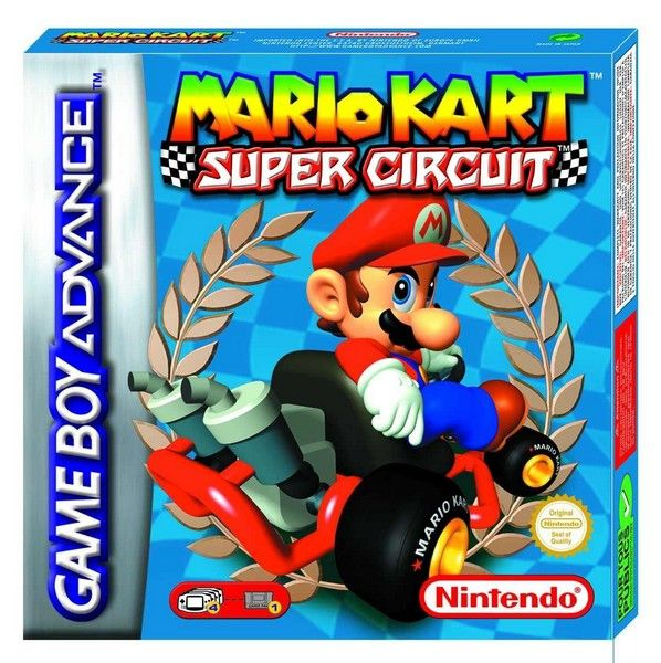 Mario Kart Super Circuit for Game Boy Advance is best compared to the Super Nintendo Entertainment System (SNES) counterpart. Description from games-online-store.com. I searched for this on bing.com/images