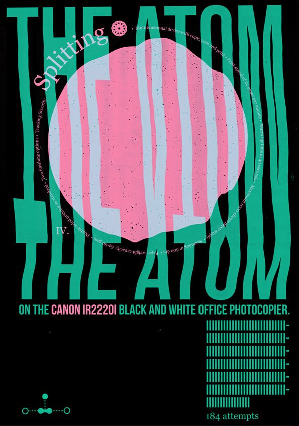 It's Nice That : The Graduates 2012: Andrew Duncan splits atoms on a photocopier and you're talking about the Higgs boson?
