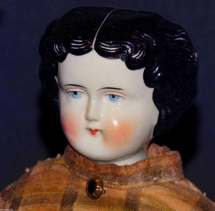 """Antique 18"""" 1880s - 1890s China Doll Head Body Antq Clothes Dress AD5111586wi"""