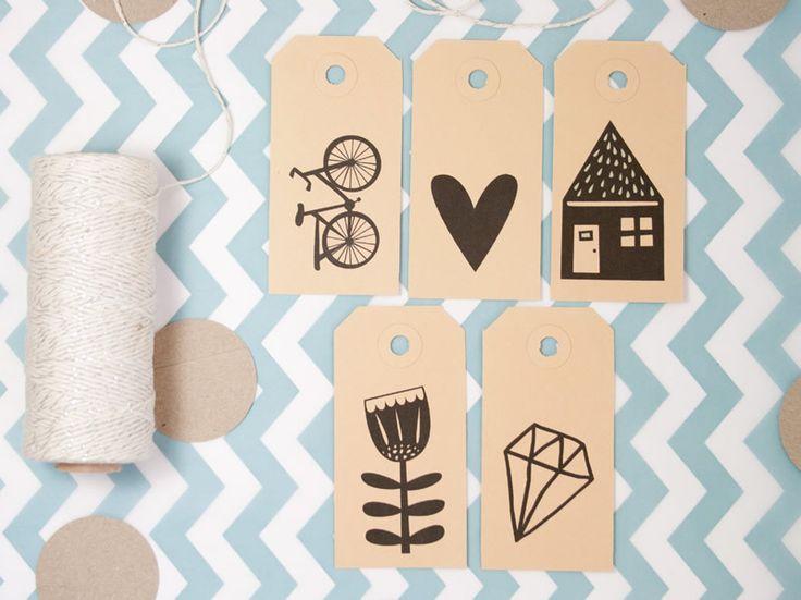 Petites étiquettes mignonnes pour faire de jolis emballages cadeaux ! #Xmas #Noel #Gift