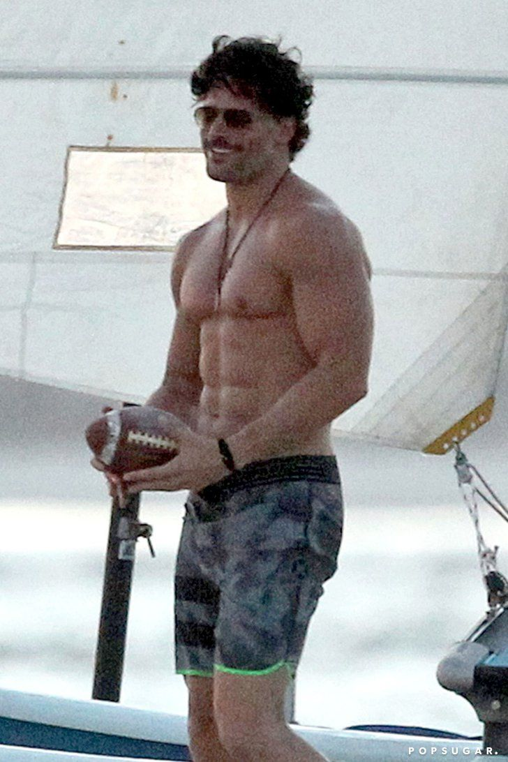 Pin for Later: The 21 Sexiest Shirtless Moments From 2014 Joe Manganiello's Insane Muscles Joe Manganiello proved he was in extragood form for Magic Mike XXL filming during October in Georgia, but let's be real. He looks great year-round.