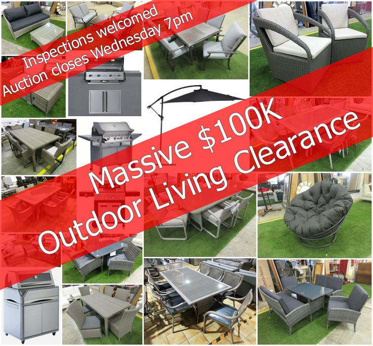 Ex-Display Outdoor Furniture PLUS BBQ's EOFY Clearance Auction View & Bid here: https://www.lloydsonline.com.au/AuctionLots.aspx?smode=0&aid=6362&pgn=1&pgs=100&gv=True&utm_content=bufferb0250&utm_medium=social&utm_source=pinterest.com&utm_campaign=buffer All in our Carrara Warehouse, come down to inspect today!