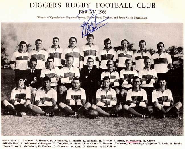 diggers rugby club history - First XV 1966 Diggers Rugby Football Club