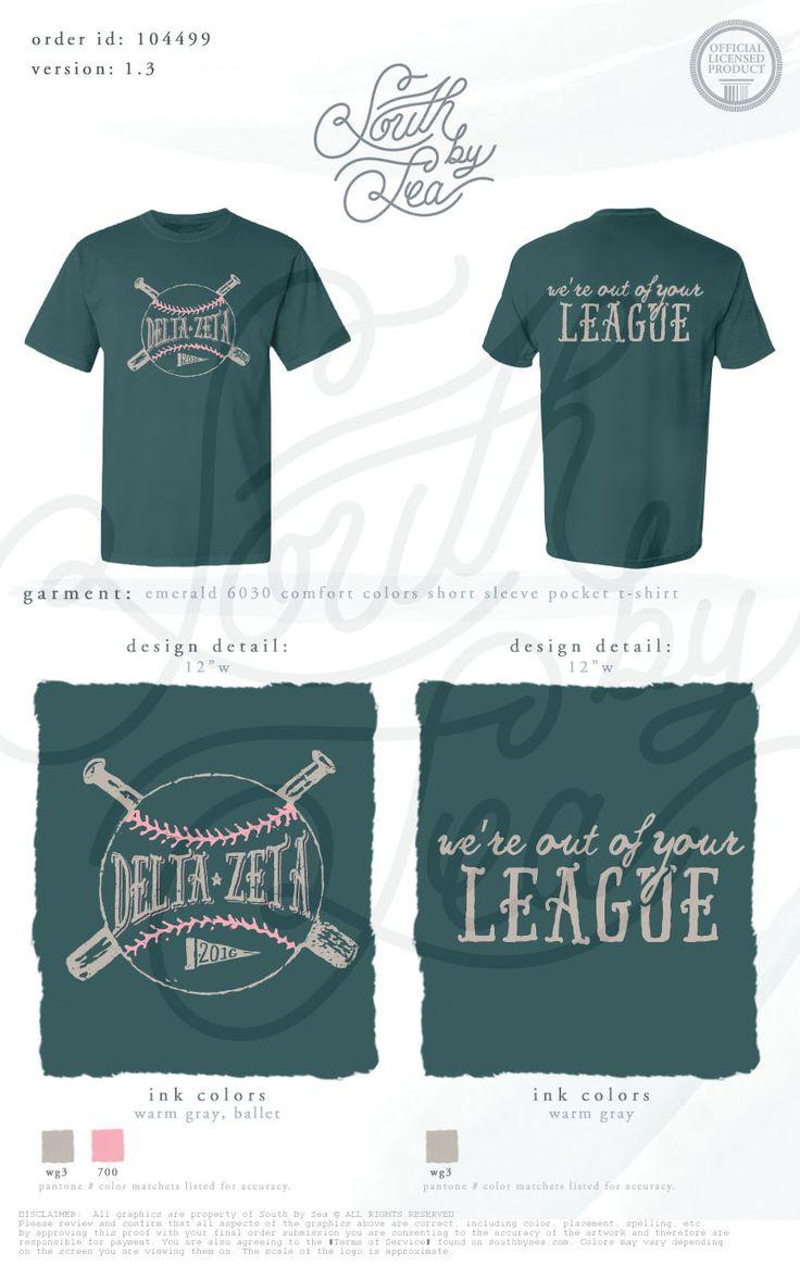 Charming Delta Zeta | DZ | Baseball Shirt Design | Weu0027re Out Of Your League