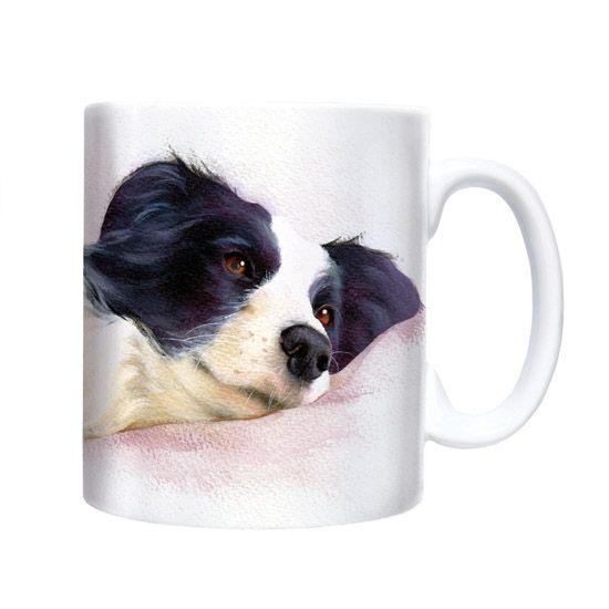 Watercolour Border Collie Chunky Mug