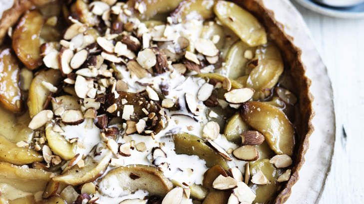 Apple pie: Dan Lepard transforms an ordinary apple tart with spices, almond and tahini!