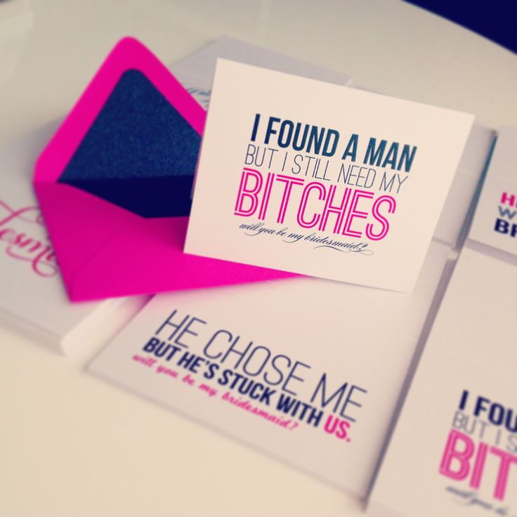 Cute way to ask your bridesmaid!