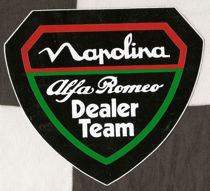 NAPOLINA ALFA ROMEO DEALER TEAM GTV6 BSCC ESCC ORIGINAL PERIOD STICKER ADESIVO