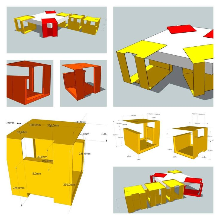 Table basse // G2 // bois et métal // Collectif 7iD