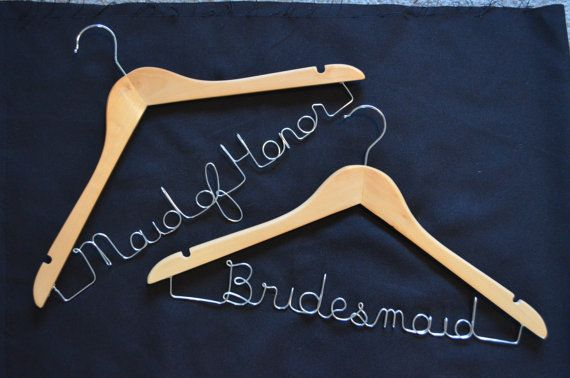 Bridesmaid/ Maid of Honor Hangers - just ordered these as a surprise for my girls!