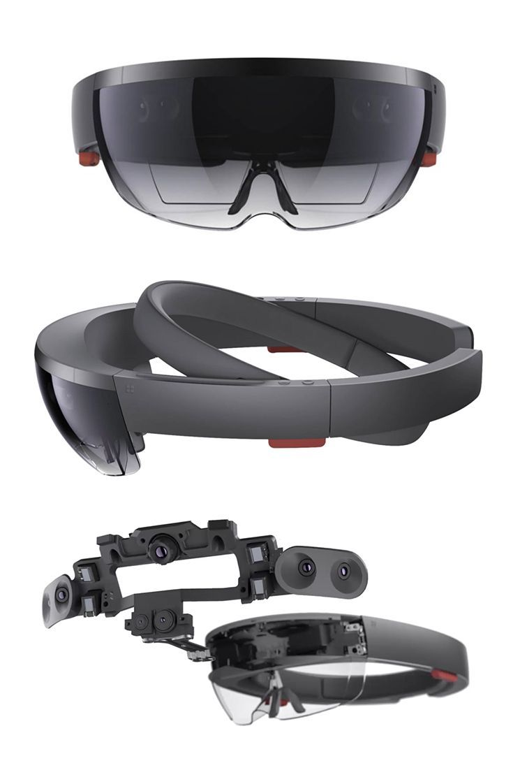 Microsoft HoloLens augmented reality headset hardware. More info  http://buyvr.tech