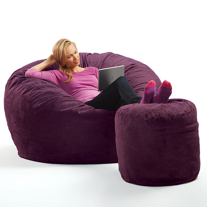 Micro Suede Theater Sack Bean Bag Chair. THIS IN THE LIBRARY!