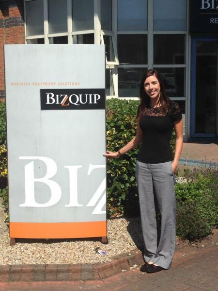 This is Melanie our brilliant office manager, she is at our lovely clients HQ - Bizquip Sandyford. @bizquip