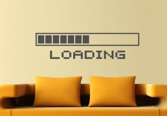 Loading Bar Wall Decal Decor for ME!Above the bed would be perfect.
