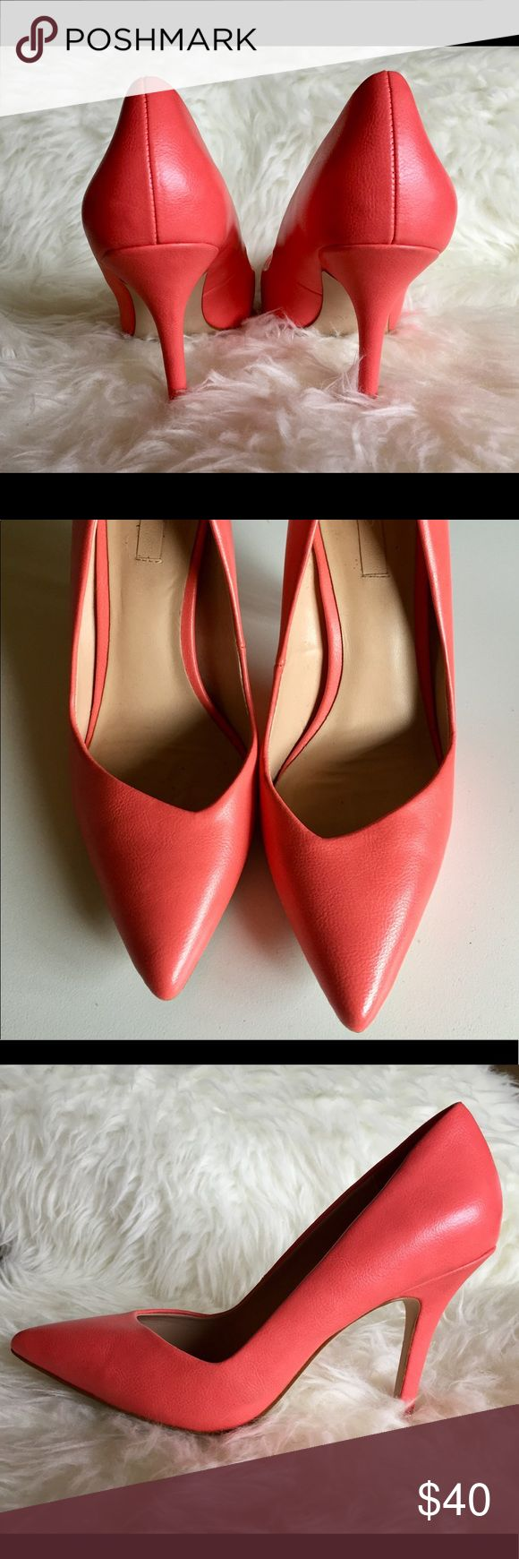 Pink Aldo Heels Playful and colorful Aldo heels with asymmetric opening. Adds great contrast to an all black or neutral outfit and very comfortable! Aldo Shoes Heels