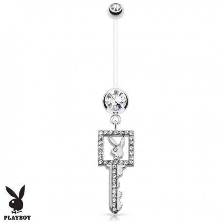 Piercing Nombril Grossesse Flexible Playboy® clé blanche https://piercing-pure.fr/p/636-piercing-nombril-grossesse-flexible-playboy-cle-blanche.html #key #clé #playboy #piercing #piercingnombril #piercinggrossesse