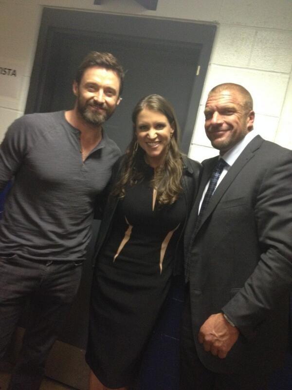 Triple H, Stephanie McMahon, And Hugh Jackman
