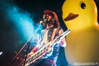 Chris Bowes of Alestorm. And the duck. Release the quackin'!