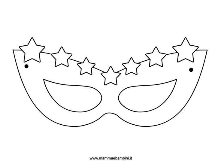 Maschera carnevale con stelline