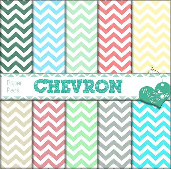 Chevron Colorful Paper Pack Digital Papers... scrapbooking paper,Printable,26 jpg files   - INSTANT DOWNLOAD