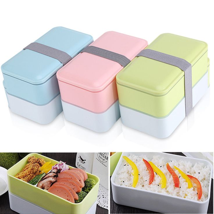 Portable Microwave Lunch Box Picnic Bento Food Container Storage W/ Chopstick Co