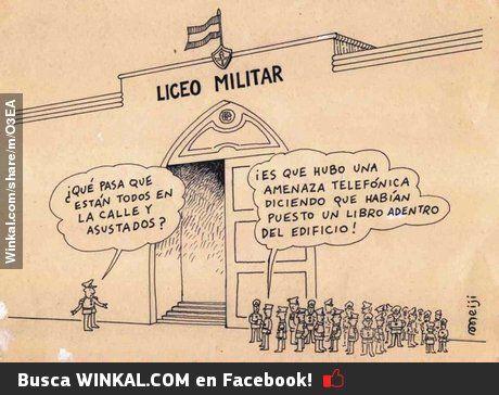 Humor durante el proceso militar!