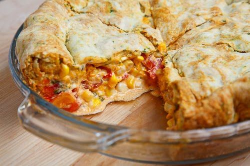 Corn and Tomato Pie - fresh from the garden