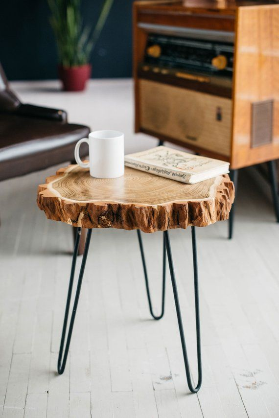 Round Coffee Table Live Edge Coffee Table Rustic Wood Slab
