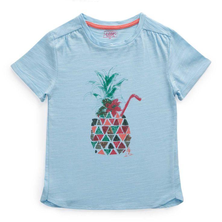 """T shirt jersey flammé """"Paradis tropical"""""""