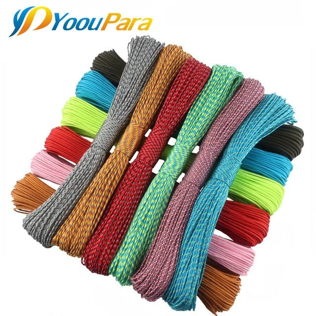 2mm Paracord 50 Meters One Stand Cores Paracord Rope Paracorde