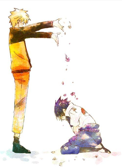 Naruto & Sasuke. Forgiveness. Friendship. #gif