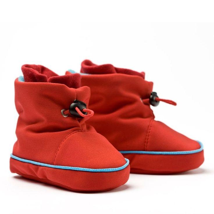 Liliputi® Babywearing Booties Red/Türkise   Liliputi baby shop  #babybooties #liliputi #babywearing