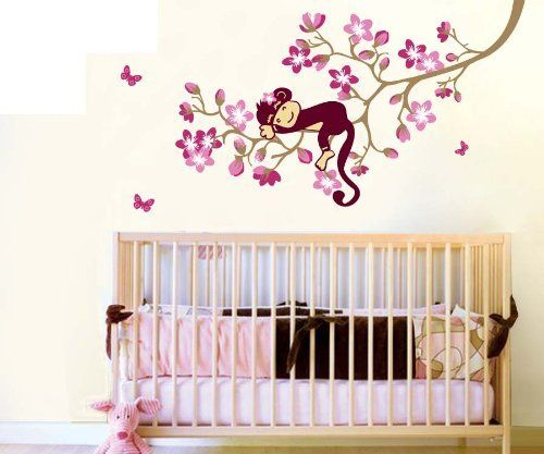 4 Cute Monkeys Wall Decals Sticker Nursery Decor Mural: 135 Best Images About Nursery Wall Decals On Pinterest