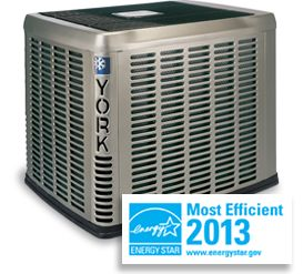 York® Affinity™ CZH Air Conditioner    • Up to 18 SEER performance and ENERGY STAR® certification keep you cooler for less.  • Premium warranties ensure years of dependability with industry-leading quality.   • Two-stage compressor provides quiet and efficient operation.    • QuietDrive™ system silences vibrations with swept wing fan and composite base.    • Ozone friendly R-410A refrigerant.