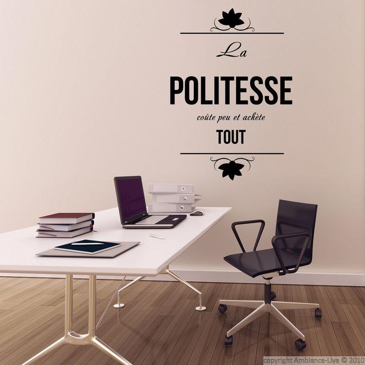 Stickers muraux citations - Sticker La politesse coute... | Ambiance-sticker.com