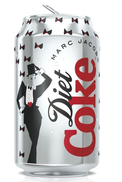 Marc Jacobs designs cans for Diet Coke 2013